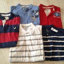Euc Very Nice Lot of 5 Mens American Eagle 2 Gap New Nwt Polo Shirts Size M Photo