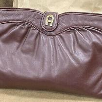 Euc Vin 80s Etienne Aigner Ruched Leather Shoulder Clutch Bag Oxblood Burgundy Photo