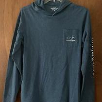 Euc Vineyard Vines Blue Lightweight Hoodie Shirt Youth Xl (18)  Photo