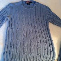 Euc Vineyard Vines Periwinkle Cable Knit Sweater Size Medium Photo