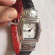 Euc Vintage Brighton Watch With Leather Strap Turns to Red and Black Photo