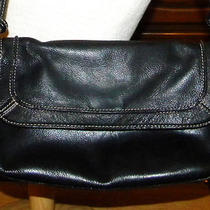 Euc Vintage Fossil Black Leather Purse/handbag Photo