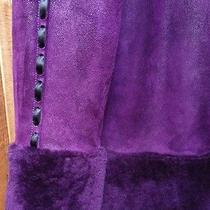 Euc Vintage Yves Saint Laurent Purple Shearling Fur Coat Jacket - Authentic Photo