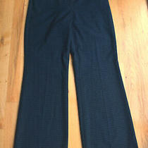 Euc Women's Express Editor Navy Blue Plaid Pants (4s) 29 Inseam Photo
