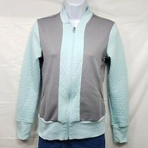 Euc Women's Ladies Adidas Jacket Xs Diamond Quilt Blue/gray Photo
