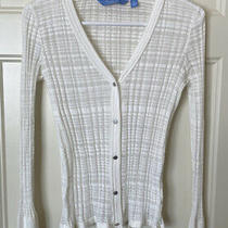 Euc Women's Simply Vera Wang Lightweight Ivory Cardigan Sweater Sz Xs - Cute Photo