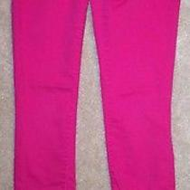 Euc Women's Size 5 6 Mossimo Bright Hot Pink Skinny Jeans Pants Photo