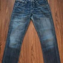 Euc Womens Citizen of Humanity  Distressed Low Rise Straight Blue Jeans Sz 26 Photo