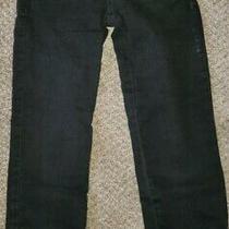 Euc Womens Guess Black Washed Denim Jogger Jeans Low Rise Ankle Zip Zipper Sz 24 Photo