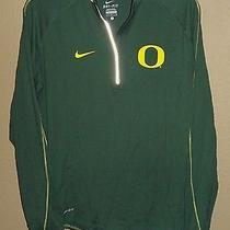 Euc Womens L Lg Nike Dri-Fit Oregon Ducks Element 1/4 Zip Athletic Top Running  Photo