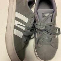 Euc Youth Adidas Sneakers Grey/white Suede Size 2 Photo