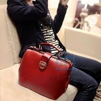European American Style Fashion Red Synthetic Leather Shoulder Tote Bag Handbag Photo