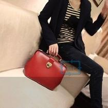 European American Style Red Synthetic Leather Shoulder Tote Bag Handbag Canada Photo