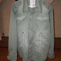 European Designertom Tailor Mens Green Military Style Jacket Size Xl  Photo