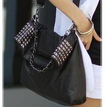 European Style Hobo Women Handbag Black Shoulder Bag  Photo