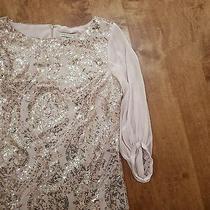 Eva Mendes Blush Sequin Shift Dress Photo