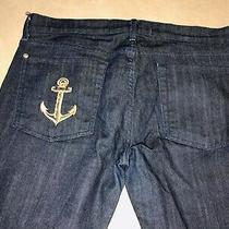 Evan Yurman 7 for All Mankind Straight Leg Jeans Size 32x35 Gold Anchor Photo