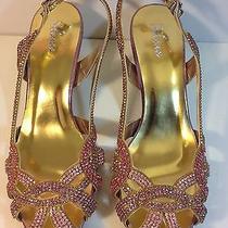 Evening Party Wedding Crystal Shine Shoes Us Size 7 Photo