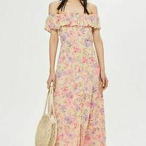 Ex Topshop Floral Maxi Bardot Dress Uk 8 Us 4 Eur 36 (Ts23-8) Photo
