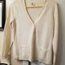 Exc Cond Nice Talbot's Ivory Button Front Wool Cardigan - Size S Photo