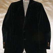 Exccnd Cool Vintage Yves Saint Laurent Mens Black Velvet Jacket Sport Coat 40r Photo