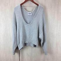 Excellent Acne Gray Cotton Cropped Length Cotton Knit 900143 Photo