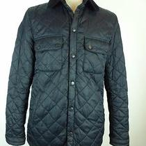 Excellent Barbour England Black Quilted Barn Jacket Field Coat M Photo