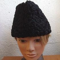 Excellent Black Persian Lamb Fur Hat Men Man Size 20