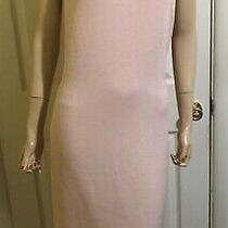 Excellent Blush Pink St John Santana Knit Sheath Dress Sz 12  L Photo