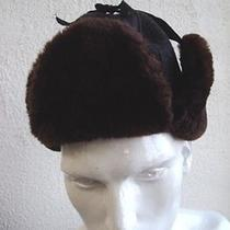 Excellent Bon Mouton Lamb Fur & Felt Hat Men Man Size 21.5