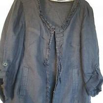Excellent Condition Moda at George Navy Linen Jacket Size 12 Photo