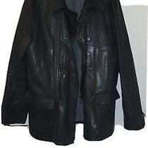 Excellent Condition Seraphin Goat Leather Jacket Sz 52 (Maker of Hermes) 9000  Photo