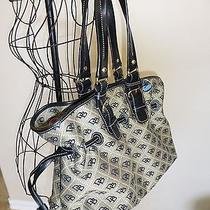 Excellent Dooney & Bourke Black & Cream Quilted Signature Chiara Tote Handbag Photo