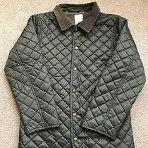 Excellent Gymboree Boys Large (10/12) Brown Quilted Barn Coat Fleece-Lined Photo