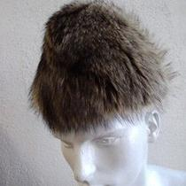 Excellent Natural Raccoon Fur Hat Men Man Size 22