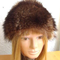 Excellent Natural Raccoon Fur Hat Women Women Children Size 21.5