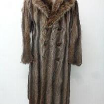 Excellent Natural Raccoon Racoon Fur Coat Jacket Men Man Size 38-40 Small Photo