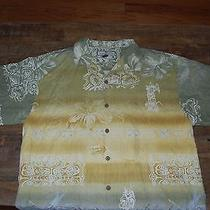 Excellent Tommy Bahama 100% Silk Relax Camp Shirt Medium Tropical - Free Ship Photo