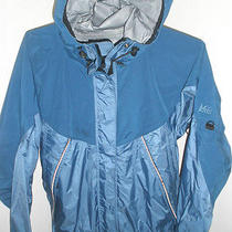 Excellent Womens Blue Rei Elements Jacket Taped Seams Vented Size Medium Mint Photo
