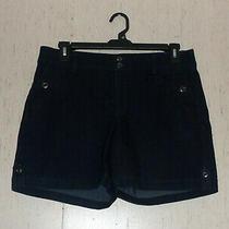 Excellent Womens Gloria Vanderbilt Dark Wash Denim Blue Jean Shorts  Size 12 Photo