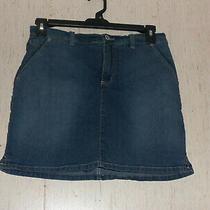 Excellent Womens Gloria Vanderbilt Distressed Blue Jean Skort  Size 12 Photo