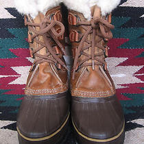Exceptional Womens Sorel Alpine Waterproof Insulated Leather Sno-Pac Boots 8 M Photo