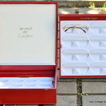 Excl Deluxe 80s Vintage Cartier Display Distributor Box / 2 Trays for 16 Glasses Photo