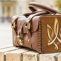 Exclusive Women Handmade Leather Hand Bag With Wooden Elements (Wood Leather) Photo