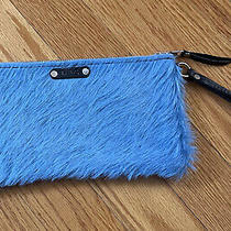 Exotic Blue Dyed Hide Cowhide Wristlet Photo