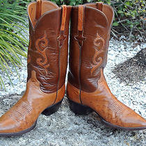 Exotic Lucchese Classic Handmade Full Quill Ostrich Western Boots Nice Upper Photo