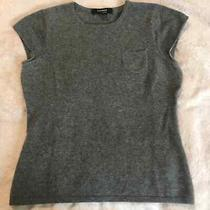 Express 100% Cashmere Grey Cap Sleeve Sweater M Photo