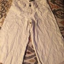 Express 100% Linen Size 2 Beige Bermuda Pants Just Need Ironing Photo