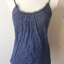 Express 100% Nylon Top Tank Camisole Lined Blue Spaghetti Straps Small Sm S Photo