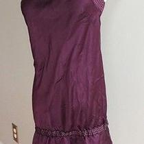 Express 100% Silk Royal Purple Strapless Purple Tunic Blouse/  Dress- Size Large Photo